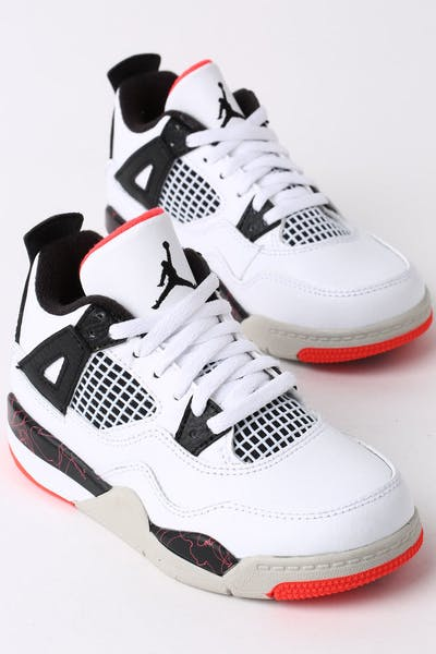 ff30a70a54e1 Jordan Air Jordan 4 Retro (PS) White Black Crimson