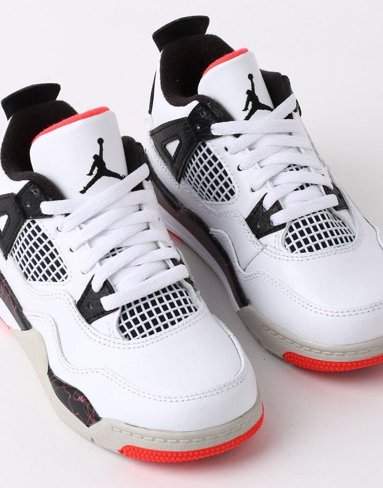b1a862477 Jordan Air Jordan 4 Retro (PS) White Black Crimson – Culture Kings
