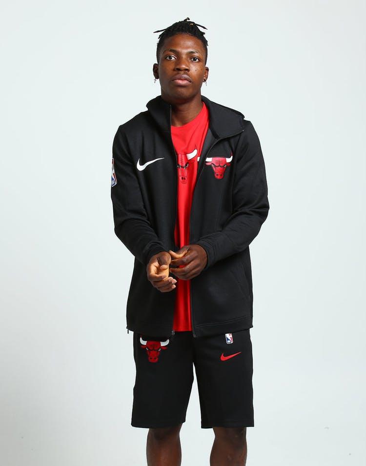 45891277111 Nike Chicago Bulls Therma Flex Showtime Hood Full Zip Black Black White