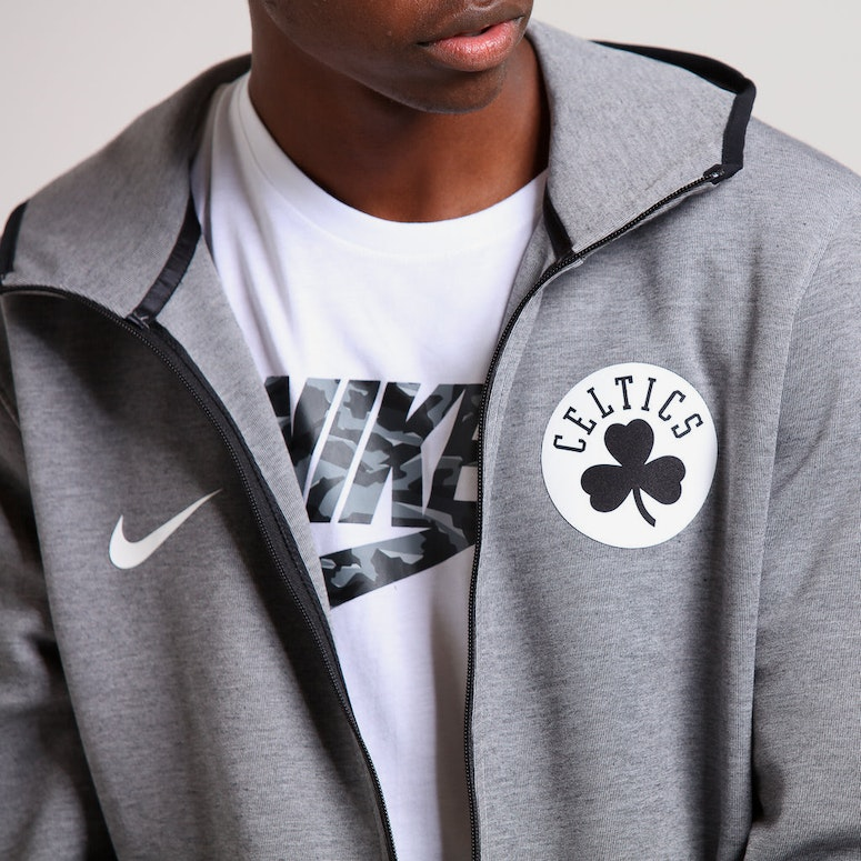 Nike Boston Celtics Dry Showtime Hoodie Heather/Black/White