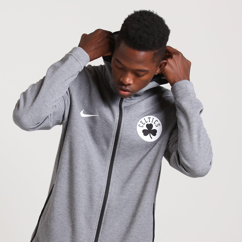NIKE NBA BOSTON CELTICS SHOWTIME DRY HOODIE BLACK HEATHER