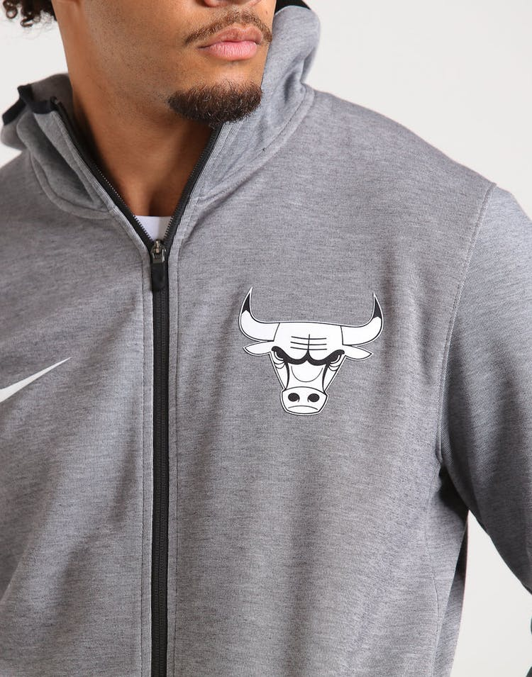 Nike Chicago Bulls Dry Showtime Hoodie Heather/Black/White