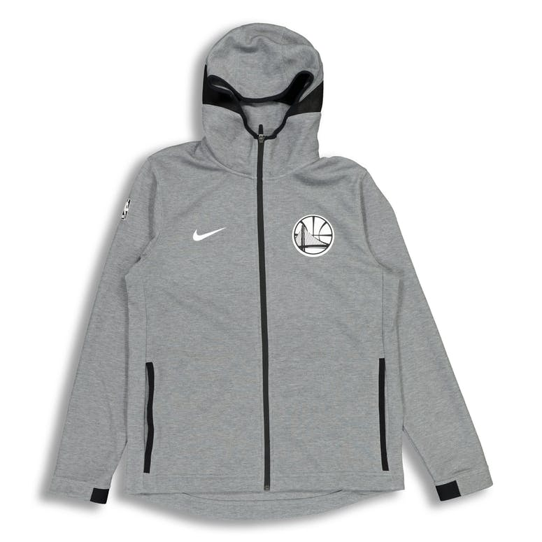 Nike Golden State Warriors Dry Showtime Hoodie Heather/Black/White