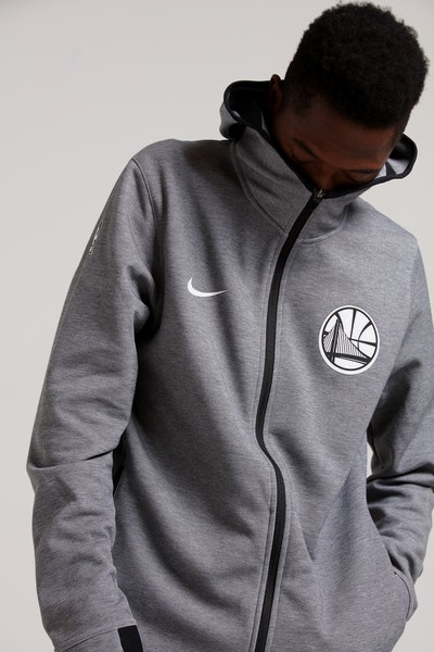 f96a72a8abae4 Nike Golden State Warriors Dry Showtime Hoodie Heather Black White