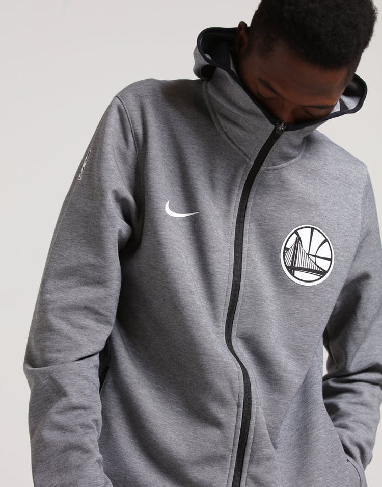 4dd91aec8a46 Nike Golden State Warriors Dry Showtime Hoodie Heather Black White –  Culture Kings