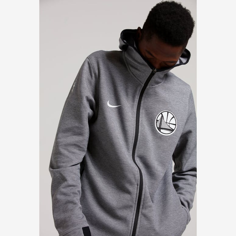 a3bb19079 Nike Golden State Warriors Dry Showtime Hoodie Heather Black White –  Culture Kings