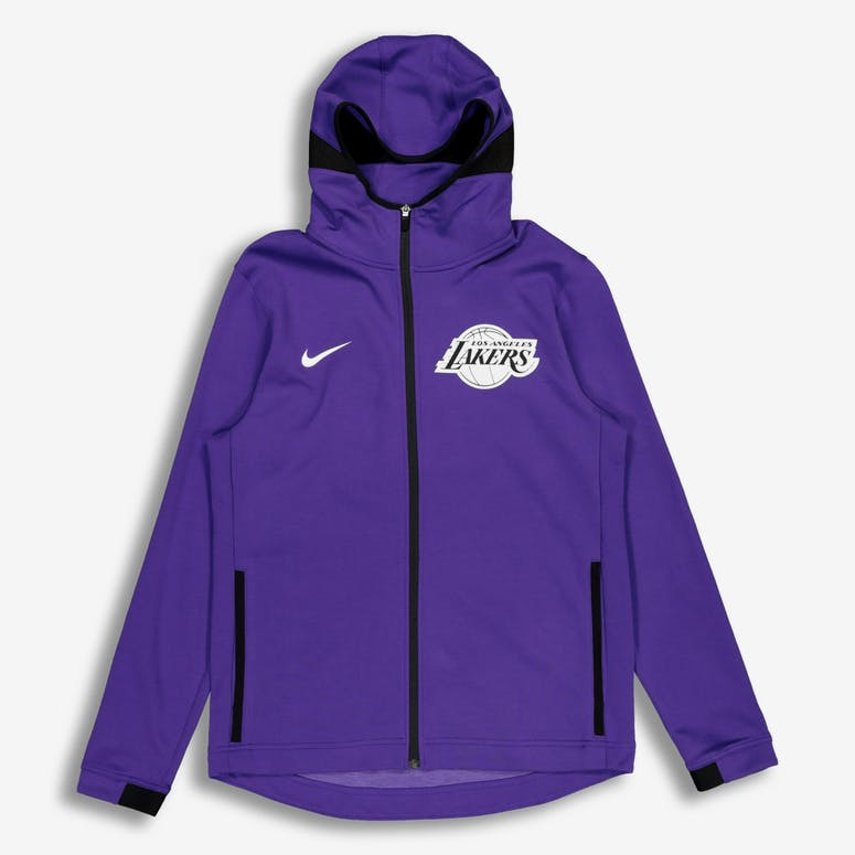 Nike Los Angeles Lakers Dry Showtime Hoodie Purple Black White ... 52c5e0183
