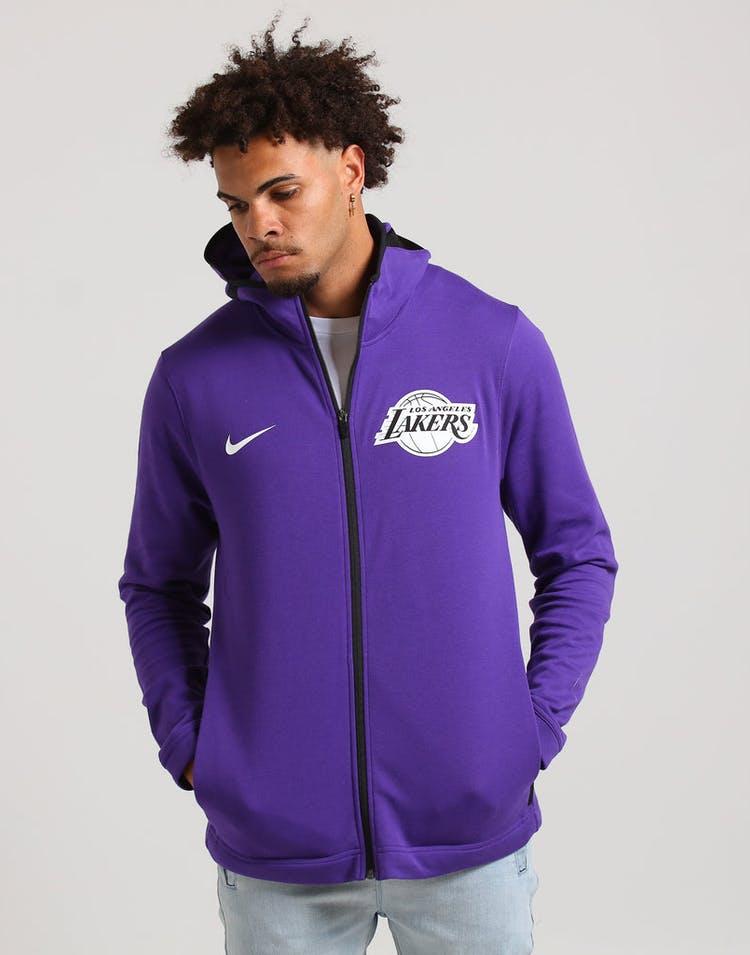 ffb1c4878 Nike Los Angeles Lakers Dry Showtime Hoodie Purple/Black/White ...