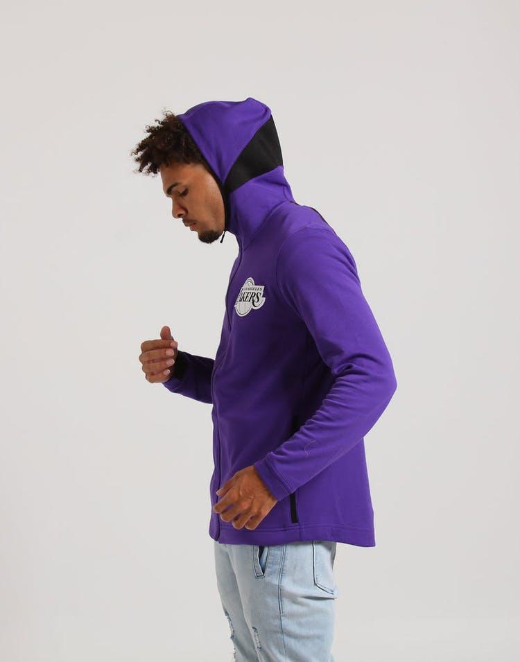 eadb111ea25 Nike Los Angeles Lakers Dry Showtime Hoodie Purple Black White ...