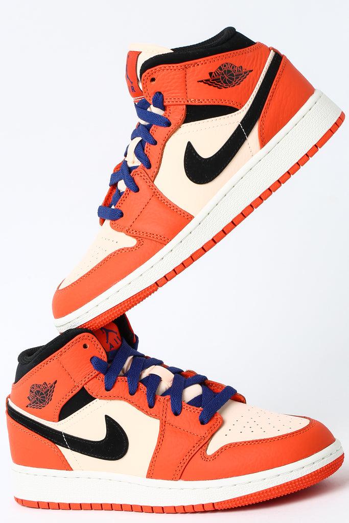 Nike Air Max 270 Jacquard Older Kids' Shoe BlueGreyWhite
