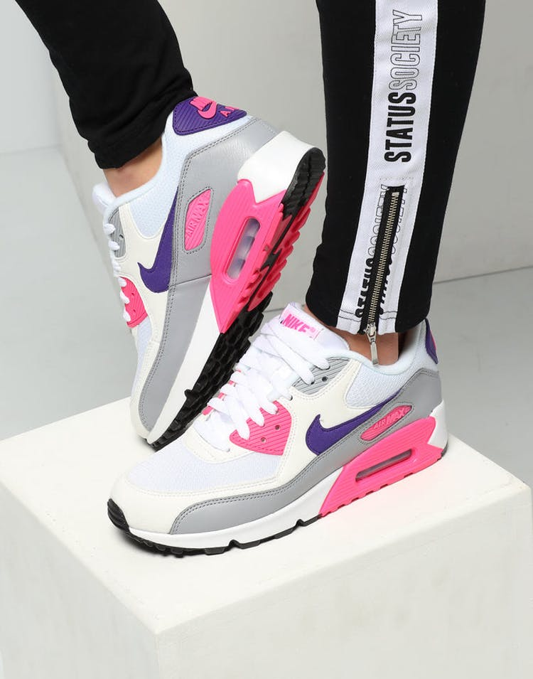 separation shoes 4fcdd c8915 Nike Women s Air Max 90 White Purple Grey – Culture Kings