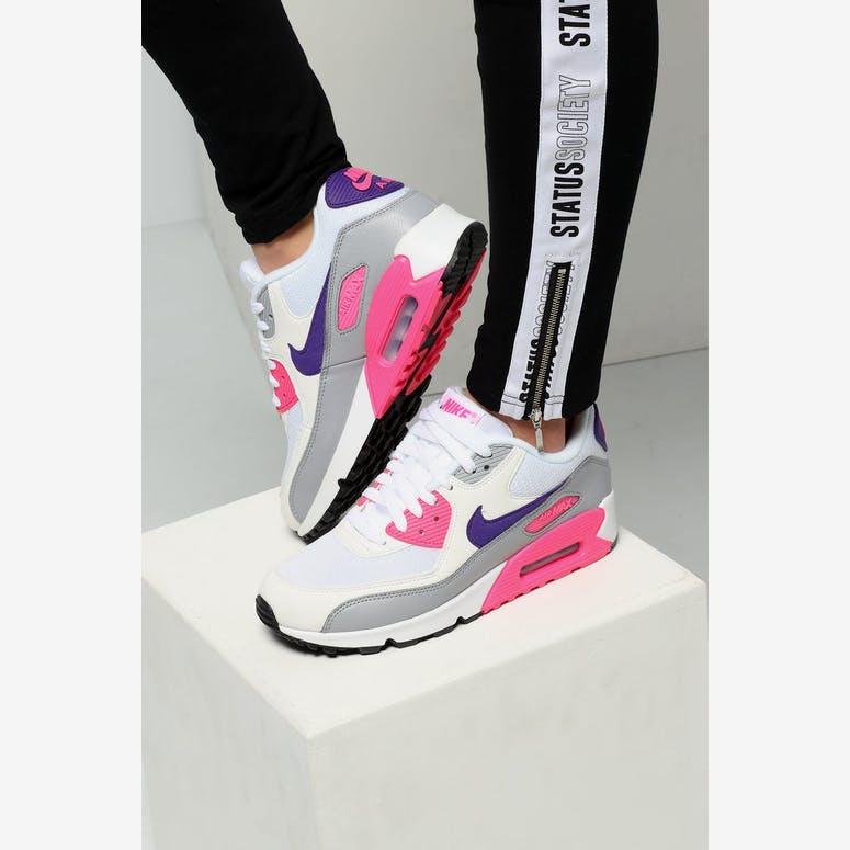 Nike Women s Air Max 90 White Purple Grey – Culture Kings 46d716a00