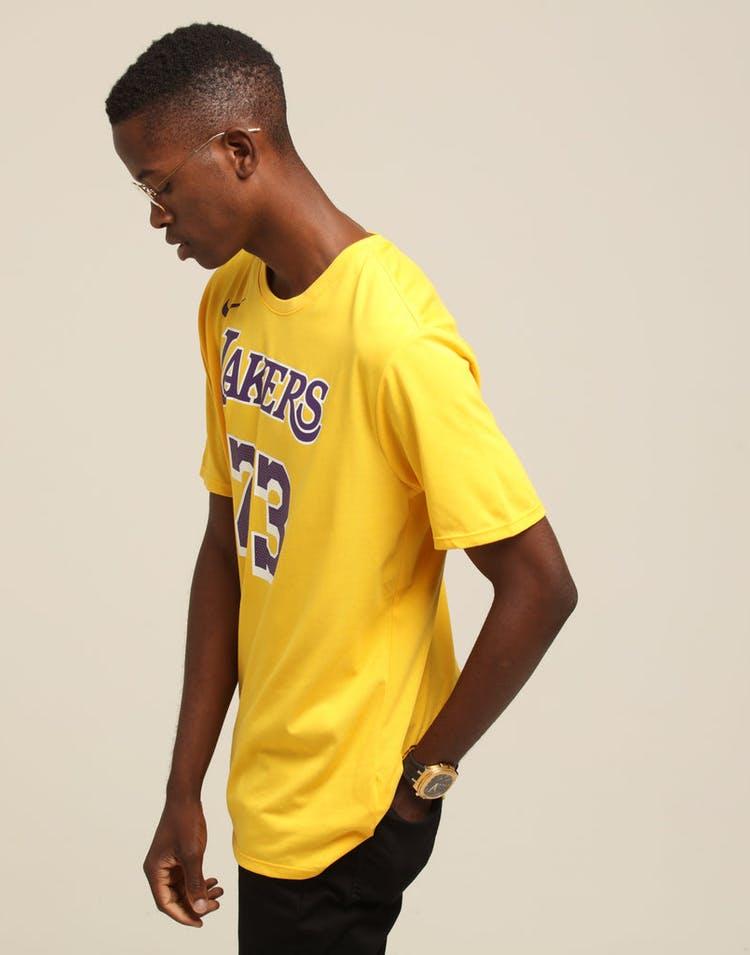 c2800cee2 Nike Los Angeles Lakers Lebron James  23 Dri Fit Tee Amarillo ...