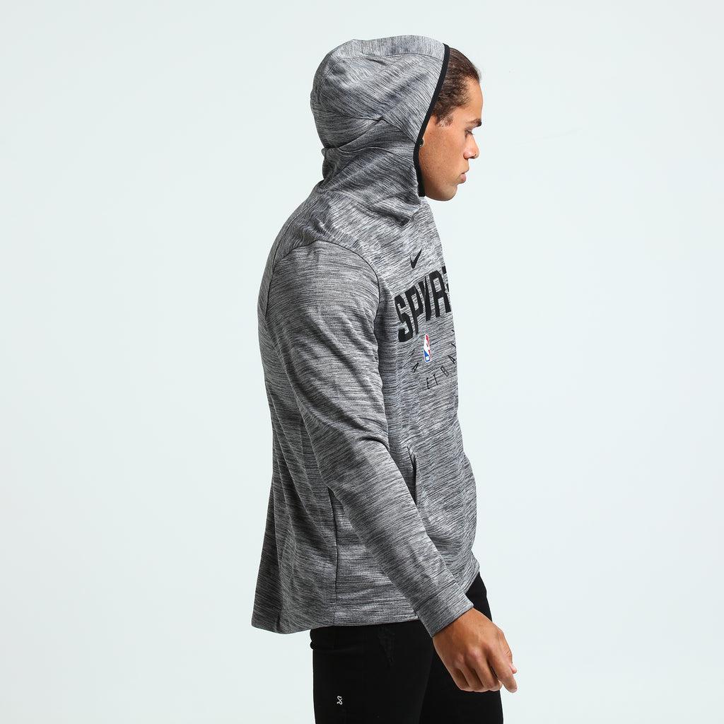 Nike San Antonio Spurs Spotlight Hoodie Pull Over CarbonBlack