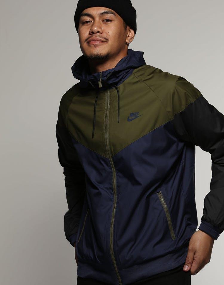 30f3d6dd5 Nike Sportswear Windrunner Jacket Navy/Olive/Black
