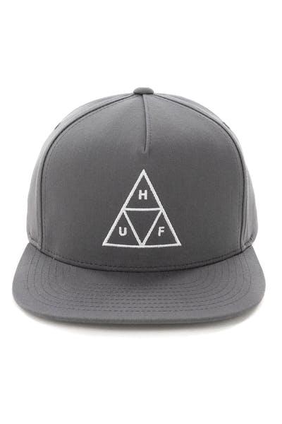 90164a8af9439 Huf Essentials Triple Triangle Snapback Hat Charcoal