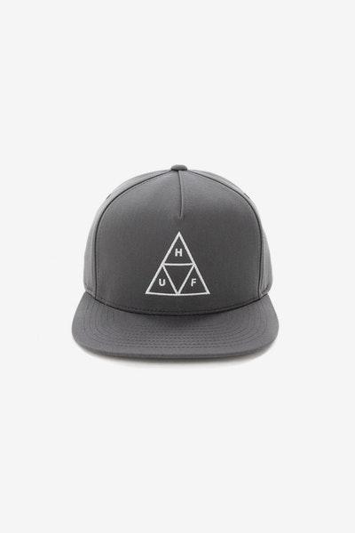 a554deec095 Huf Essentials Triple Triangle Snapback Hat Charcoal