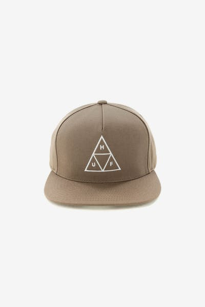 Huf Essentials Triple Triangle Snapback Hat Tobacco 138029510a7b