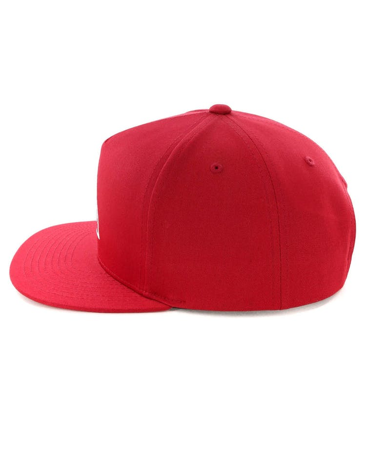 Huf Essentials Triple Triangle Snapback Hat Scarlet