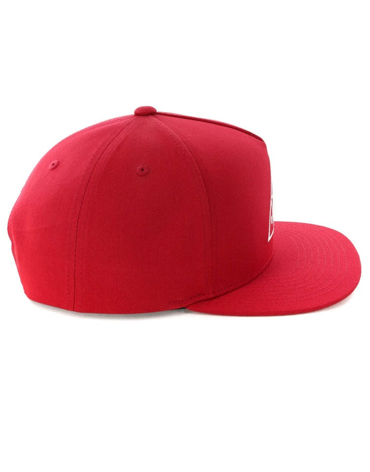 23299be0ab180a Huf Essentials Triple Triangle Snapback Hat Scarlet – Culture Kings
