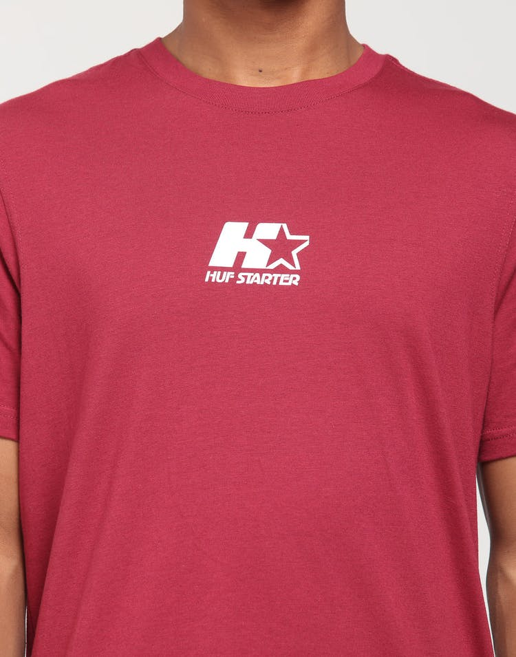 fb9fc531d9 HUF | X Starter Arch SS Tee Burgundy | Mens | Out Now – Culture Kings