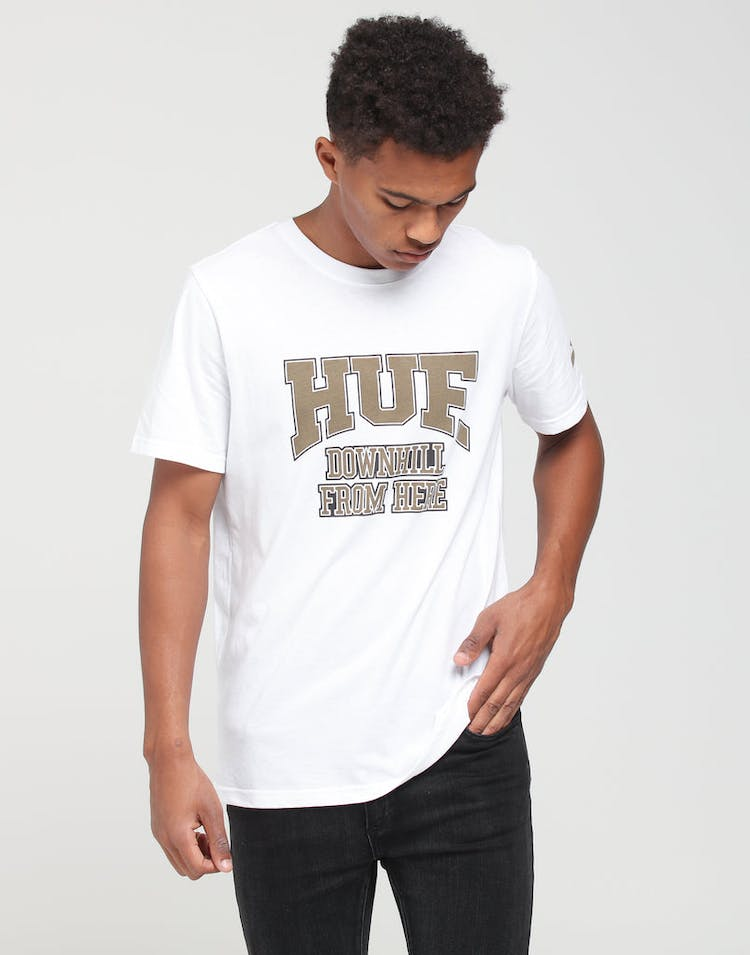 d39709c4c3 HUF | X Starter Downhill SS Tee White | Latest Drop | Mens – Culture Kings