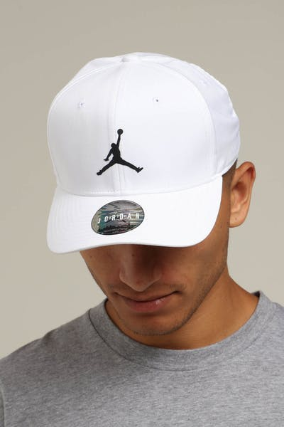 966406924f07d1 Jordan Nike Classic 99 Fitted Hat White Black