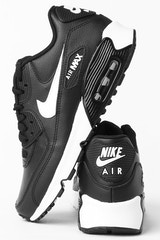 NIKE AIR MAX 90 LEATHER BLACK/WHITE/ANTHRACITE