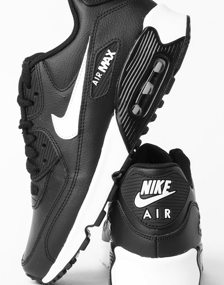 super popular f1d67 0952f Nike Air Max 90 Leather (GS) Black White Anthracite – Culture Kings