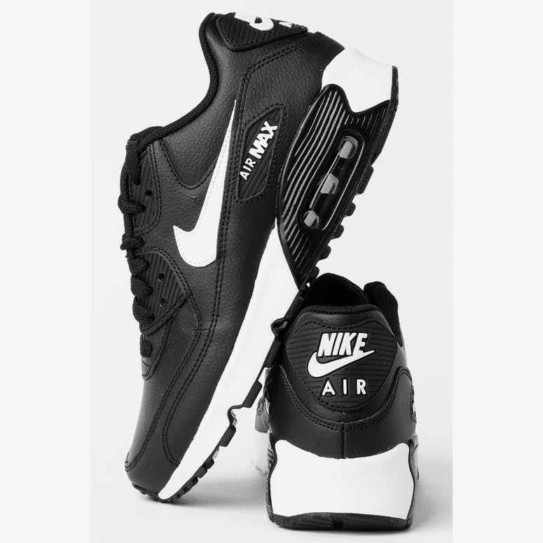 Nike Air Max 90 Leather (GS) Black White Anthracite – Culture Kings fe4de0ac112