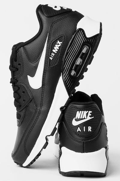 63a153a387b Nike Air Max 90 Leather (GS) Black White Anthracite