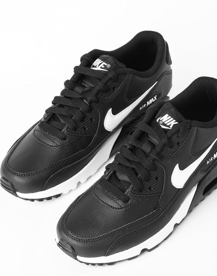 wholesale dealer c17a7 b89d1 Nike Air Max 90 Leather (GS) Black/White/Anthracite – Culture Kings