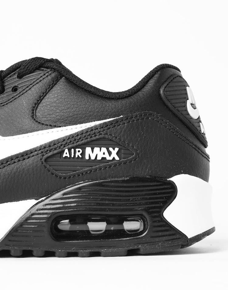official photos 282f4 14d6b Nike Air Max 90 Leather (GS) Black White Anthracite