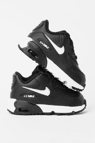 Nike Kids Air Max 90 Leather (TD) Black/White/Anthracite