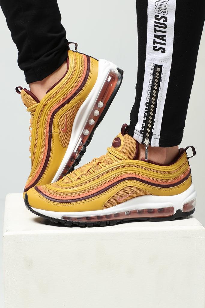 detailed look 010b2 0756d Nike Women\u0027s Air Max 97 Gold/Burgundy/White ...