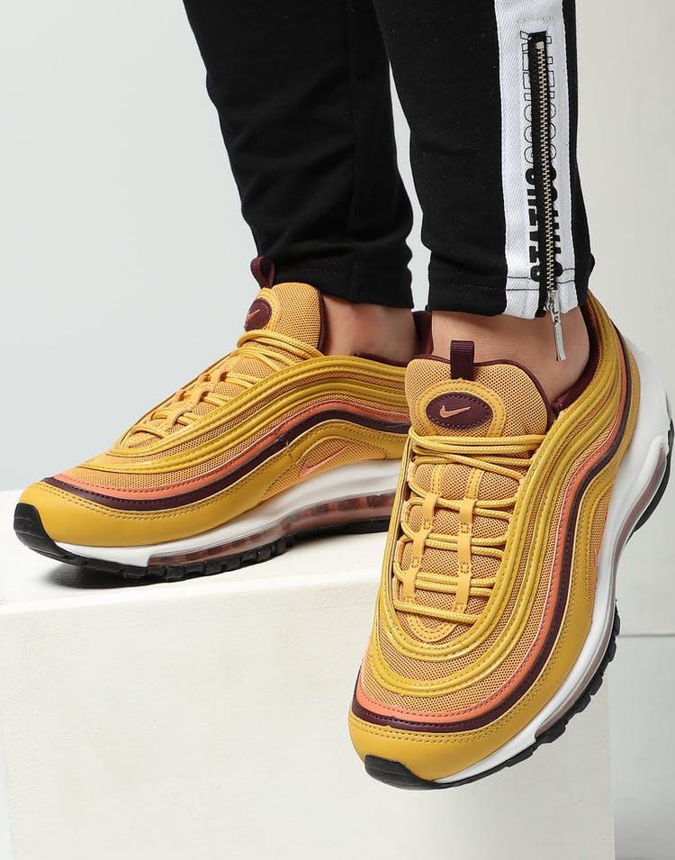 b999e1031976a Nike Women's Air Max 97 Gold/Burgundy/White – Culture Kings