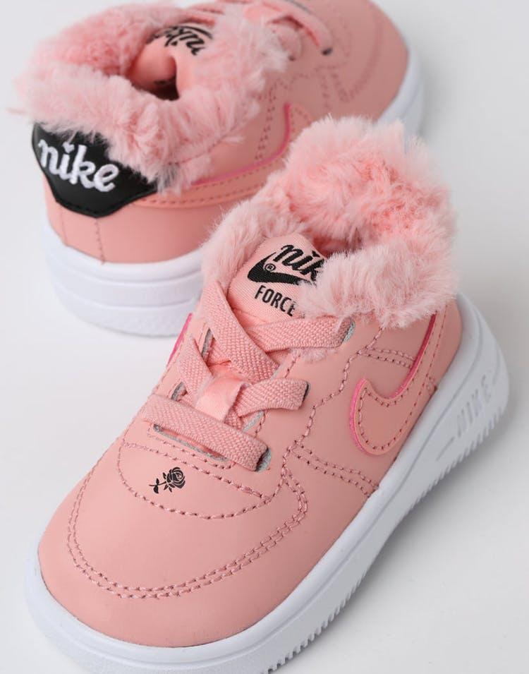 brand new dd6f2 cbe60 Nike Toddler Nike Air Force 1 V Day Bleached Coral Black – Culture Kings