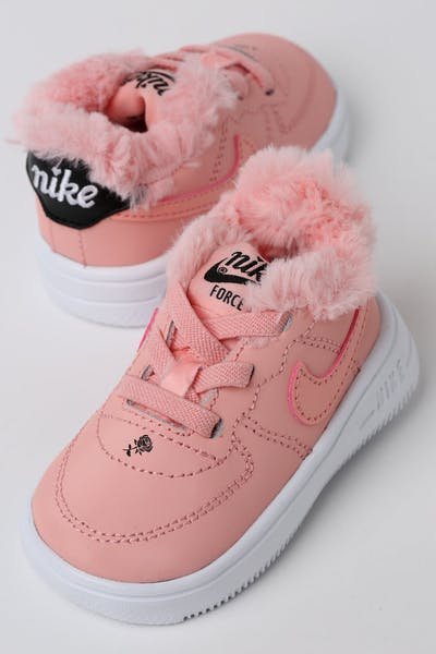 Nike Toddler Nike Air Force 1 V Day Bleached Coral/Black