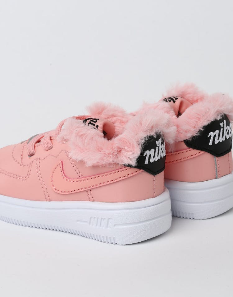 new concept f6669 fdca5 Nike Toddler Nike Air Force 1 V Day Bleached Coral Black