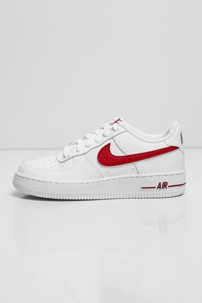 9165232c53ee Nike Kids Air Force 1-3 (GS) White Red