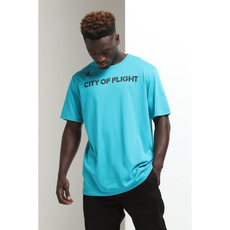 differently cc808 48b34 Nike Charlotte Hornets City Edition NBA Dri-Fit Tee Teal