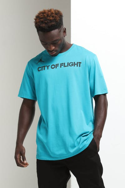 762827849 Nike Charlotte Hornets City Edition NBA Dri-Fit Tee Teal