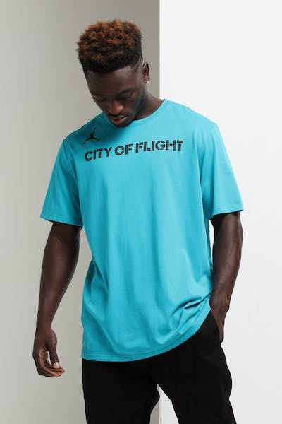 Nike Charlotte Hornets City Edition NBA Dri-Fit Tee Teal ca3a23566