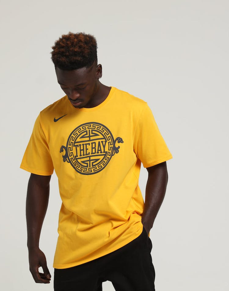 4d111265 Nike Golden State Warriors City Edition NBA Dri-Fit Tee Gold ...