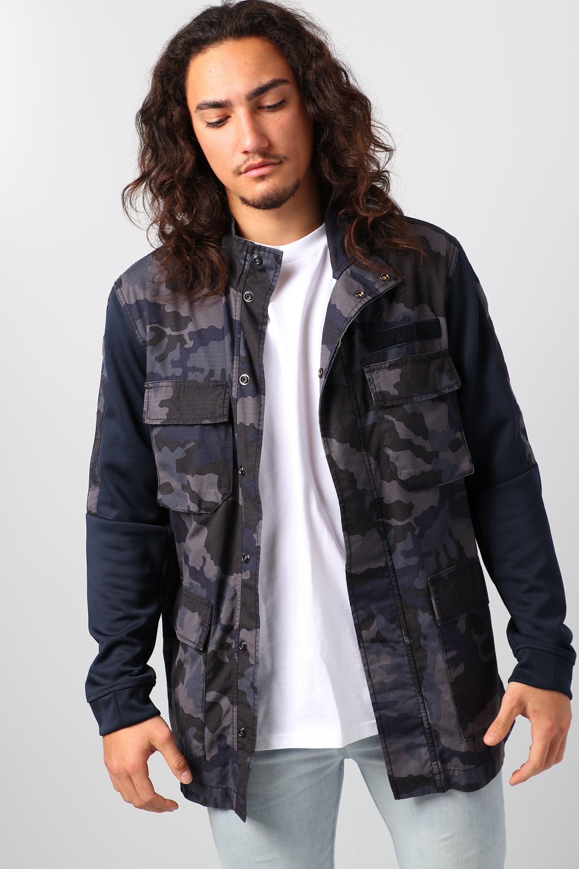 Nike Men's Sportswear Camo Jacket, Blue