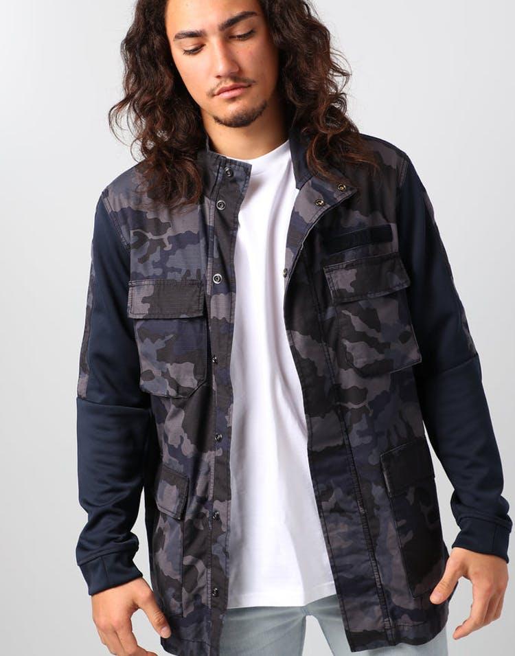 84333dcb907c Nike Sportswear NSW Men s Camo Jacket Dark Obsidian White – Culture Kings