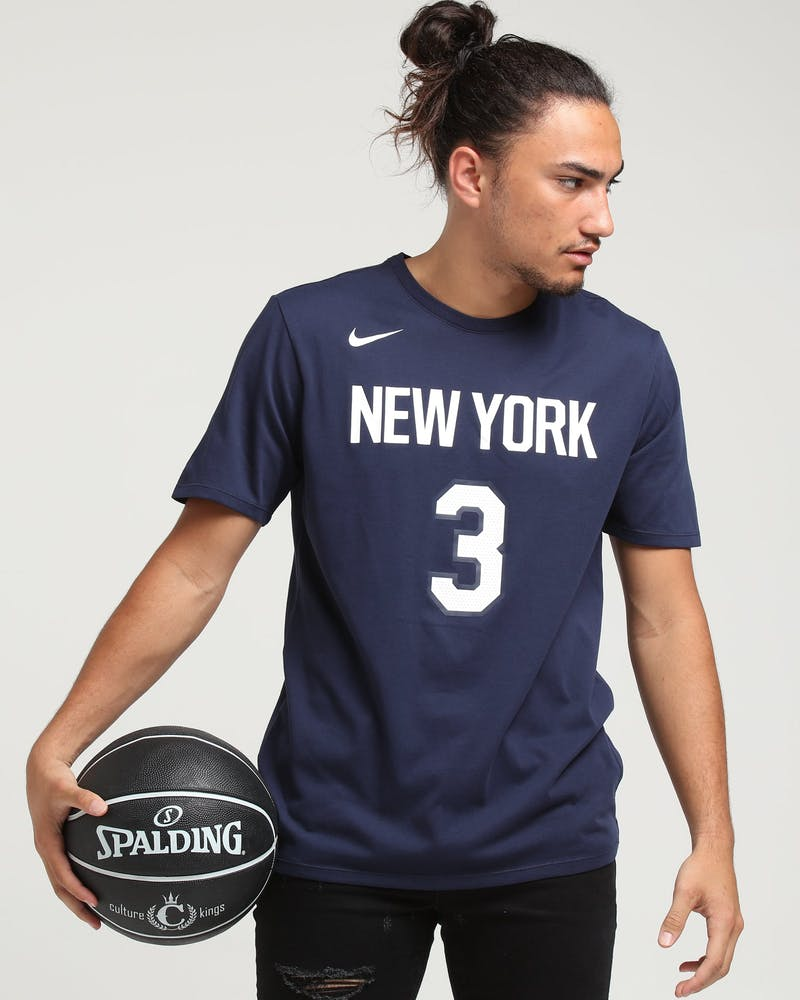 Nike New York Yankees Tim Hardaway Jr. #3 City Edition NBA Dri-Fit Tee Navy