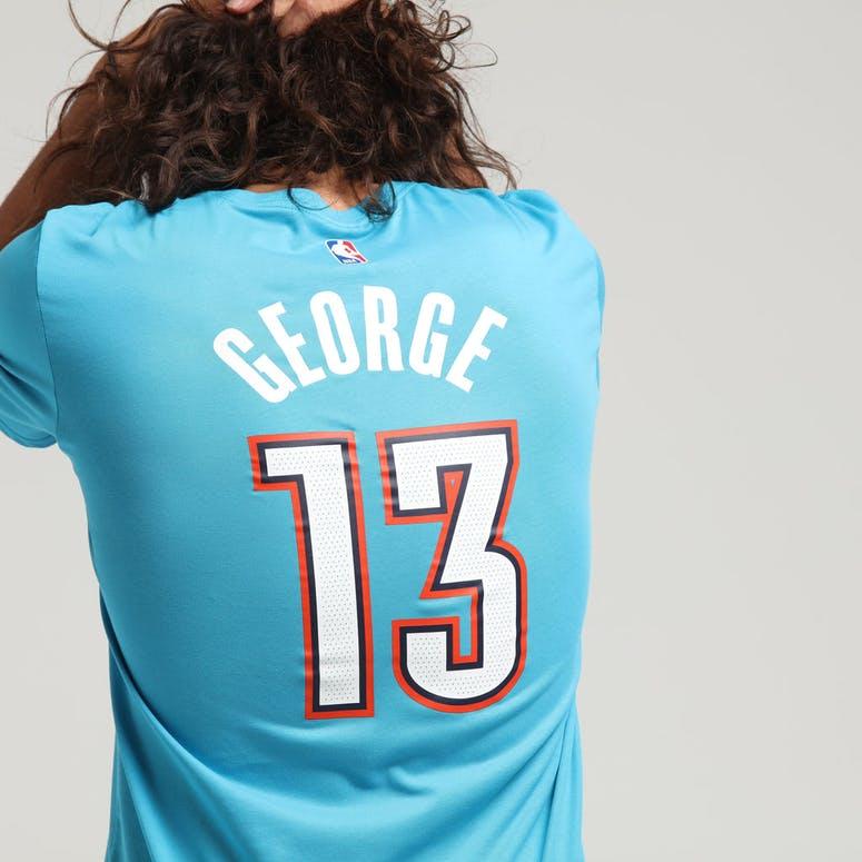 70b41a1ef79 Nike Oklahoma City Thunder Paul George  13 City Edition NBA Dri-Fit Tee  Turquoise