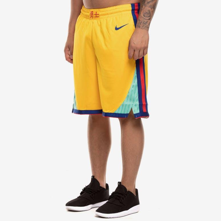 Golden State Warriors Nike NBA City Edition Swingman Shorts Yellow Blu –  Culture Kings 4d37eeabb
