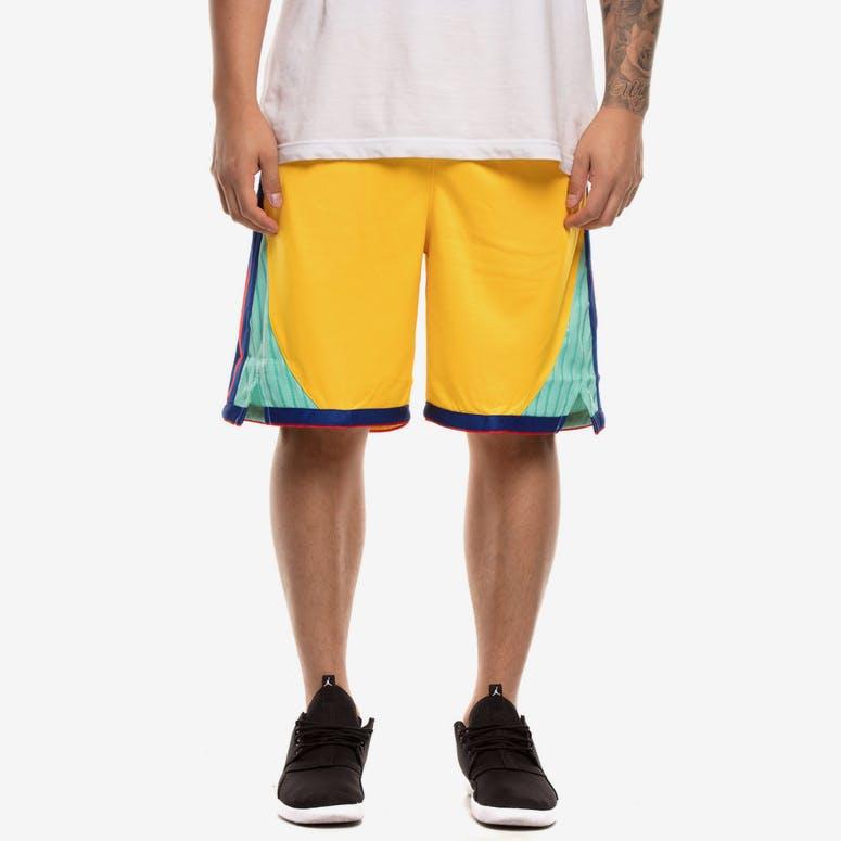 29a9da557 Golden State Warriors Nike NBA City Edition Swingman Shorts Yellow Blue